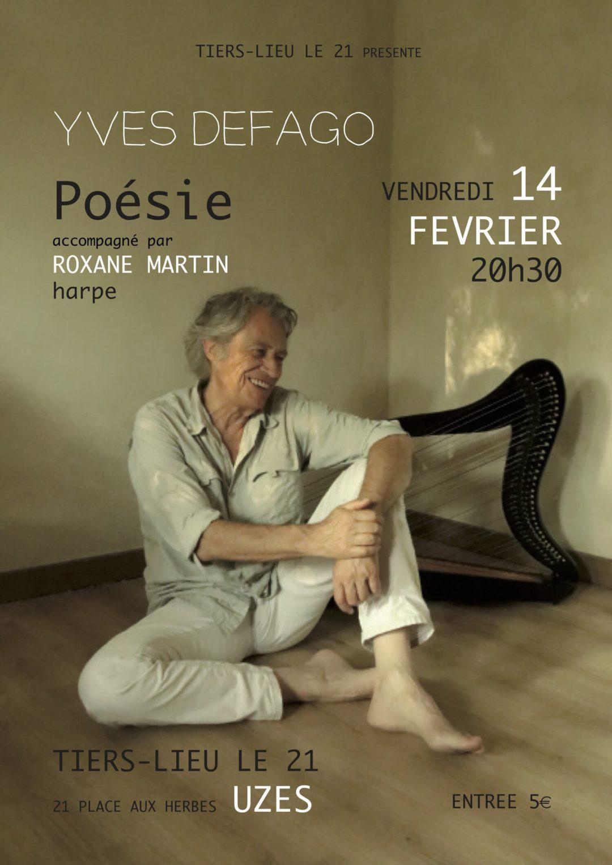 affiche de poési Yves Defago