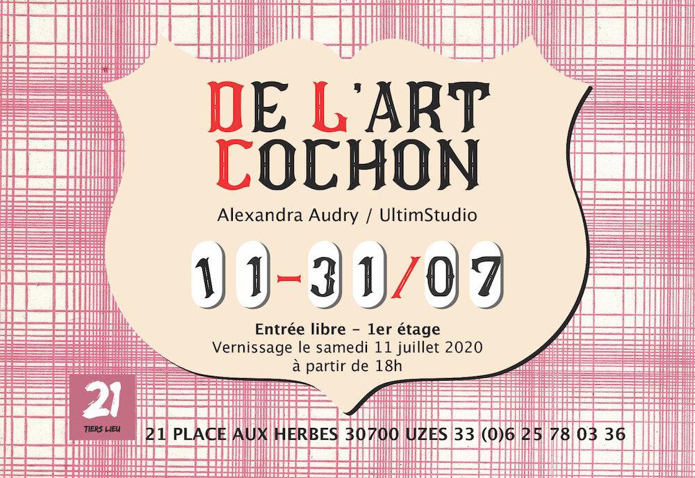 Affiche expo de l'art cochon
