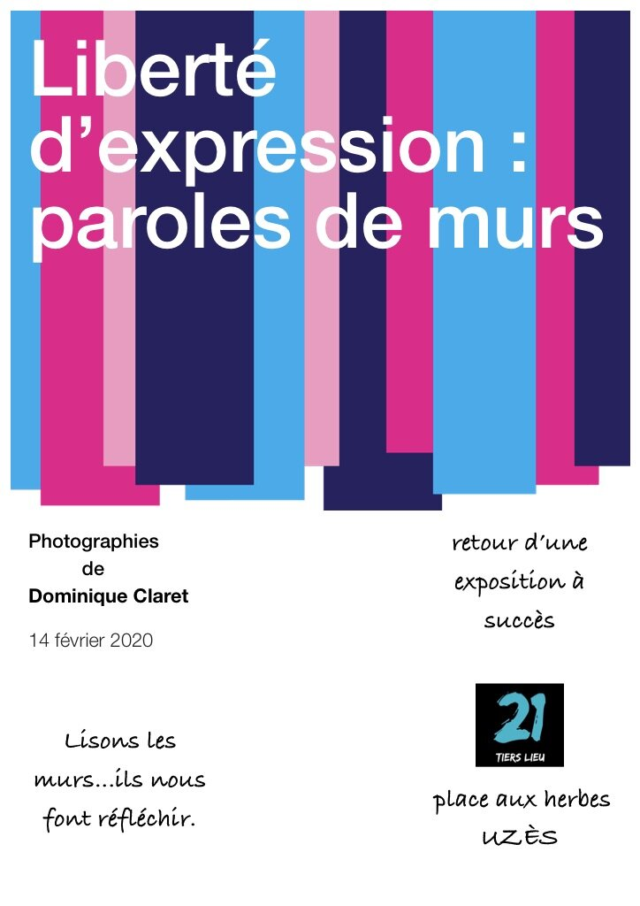 affiche photographie sur la liberté d'expression