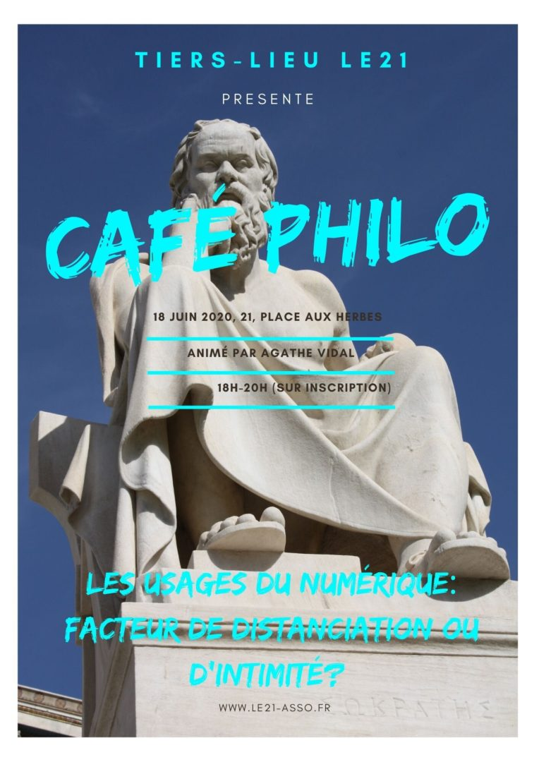 Affiche du café philo