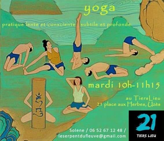 illustration pour les cours de yoga