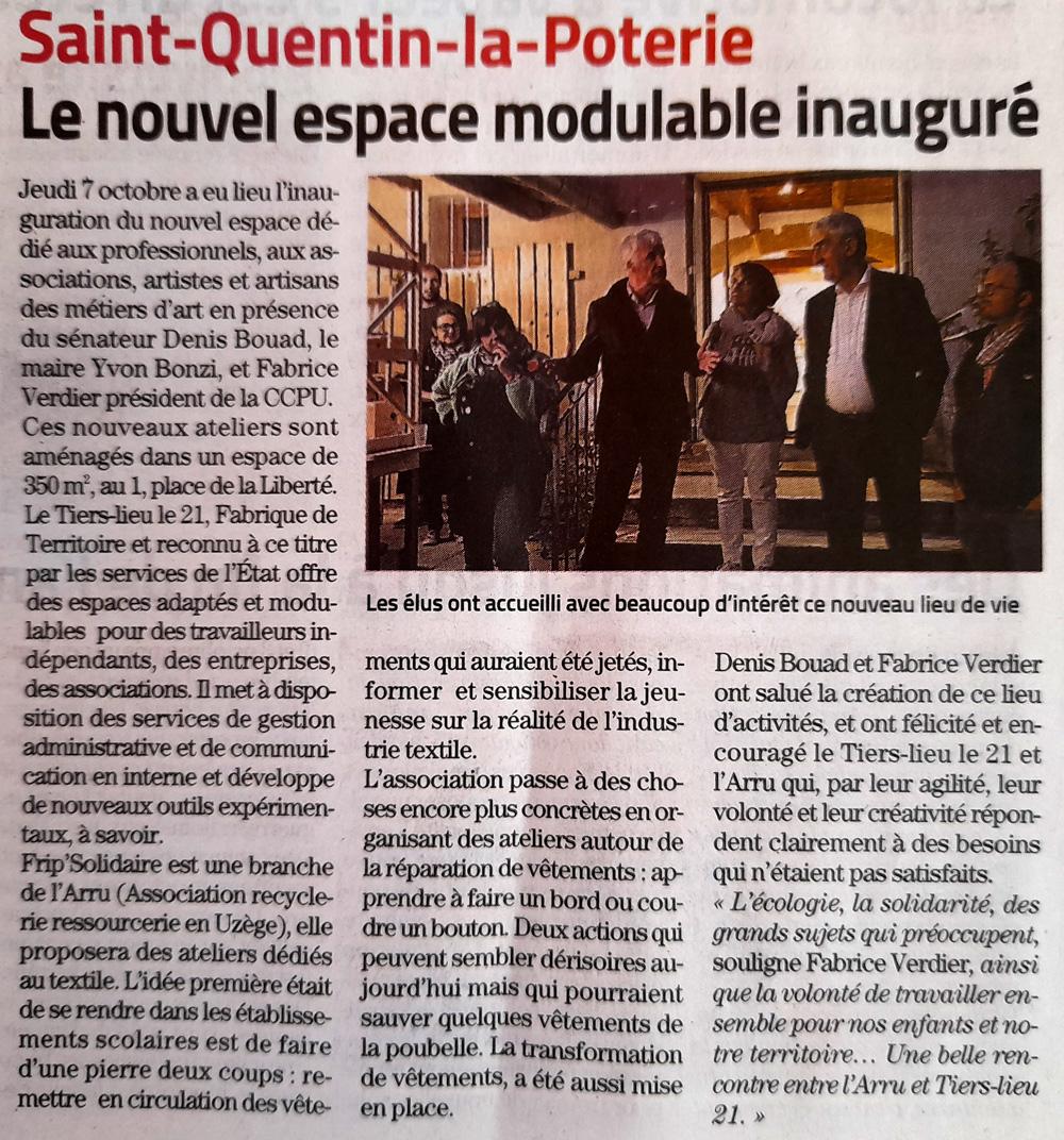 Article presse espace à St Quentin